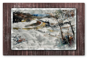 Country Road II - Metal Wall Art Decor - Pol Ledent