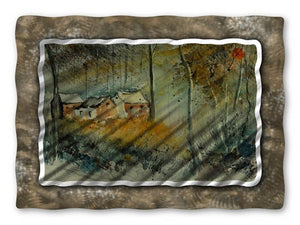 Cottage in the Woods - Metal Wall Art Decor - Pol Ledent