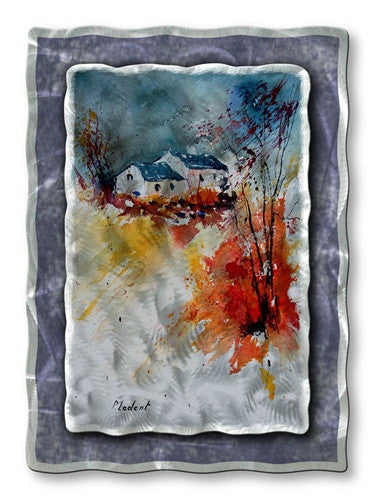 Wood Burning Stove - Metal Wall Art Decor - Pol Ledent