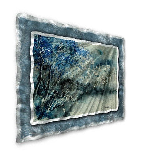 Blue Winter - Contemporary Metal Wall Hanging - Pol Ledent