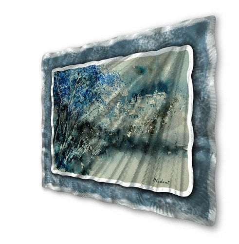 Blue Winter - Metal Wall Art Sculpture - Pol Ledent