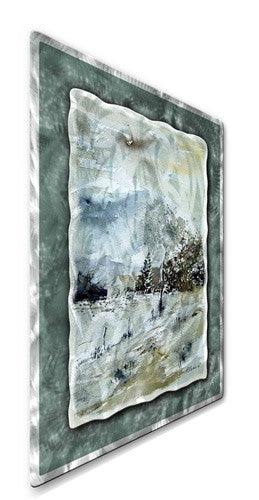 Winter Trees - Contemporary Metal Wall Hanging - Pol Ledent