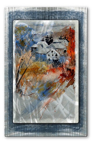 Colored Trees - Metal Wall Art Decor - Pol Ledent