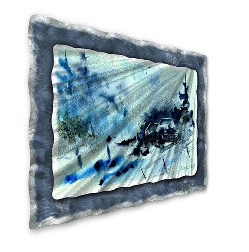 Blue Scene - Metal Wall Art Decor - Pol Ledent