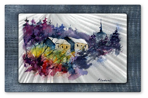 Colorful Scene - Metal Wall Art Decor - Pol Ledent