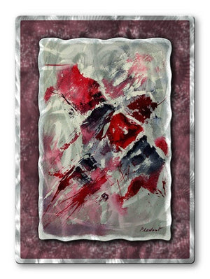 Crimson Feeling - Metal Wall Art Decor - Pol Ledent