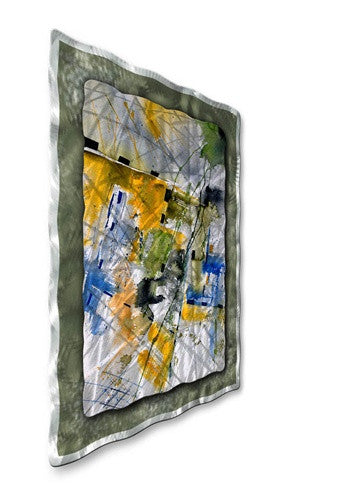 Yellow Building - Metal Wall Art Decor - Pol Ledent
