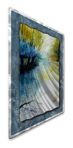 Peaceful trees - Painted Steel Metal Welded Wall Art Decor - Pol Ledent