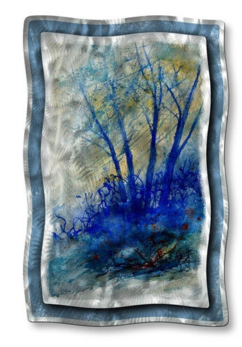 Gloomy Trees - Metal Wall Art Decor - Pol Ledent