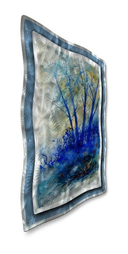Gloomy Trees - Contemporary Metal Wall Hanging - Pol Ledent