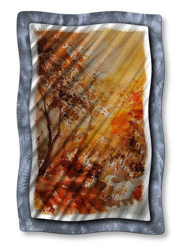 Colored Sunset - Metal Wall Art Decor - Pol Ledent