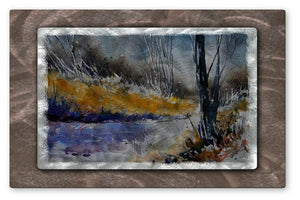 Bending Steam - Metal Wall Art Decor - Pol Ledent