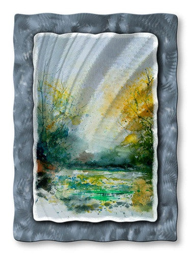 Calm Pond - Metal Wall Art Decor - Pol Ledent