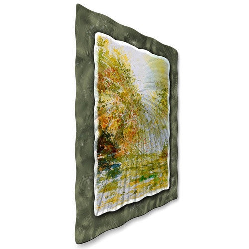 Early Fall - Abstract Steel Metal Welded Panel Art Room Furnishing - Pol Ledent