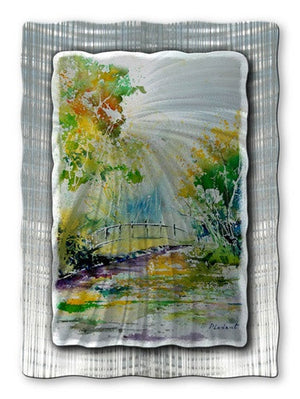 Bridge Over Water - Metal Wall Art Decor - Pol Ledent