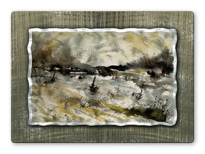 Brilliant Fields - Metal Wall Art Decor - Pol Ledent