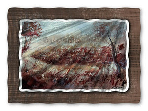 Burgundy Road - Metal Wall Art Decor - Pol Ledent
