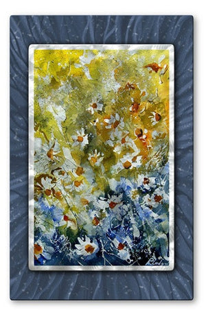 Yellow Dotted Bursts - Metal Wall Art Decor - Pol Ledent