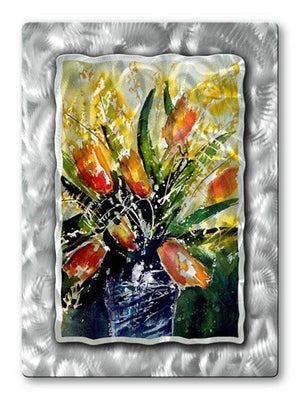 Bouquet of flowers - Metal Wall Art Decor - Pol Ledent