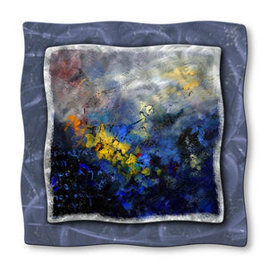 Deep Blue - Painted Steel Metal Welded Wall Art Decor - Pol Ledent