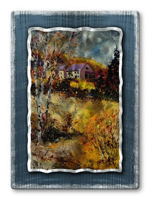 Country Home - Metal Wall Art Decor - Pol Ledent