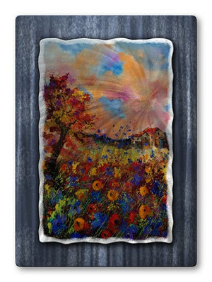 Bright Flowers - Metal Wall Art Decor - Pol Ledent