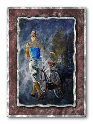 Bike With Me - Metal Wall Art Decor - Pol Ledent