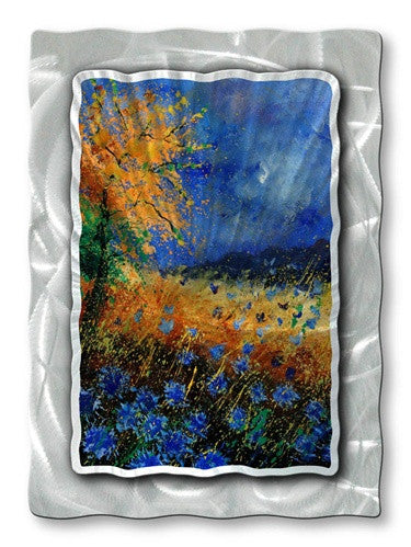 Autumn Flowers - Metal Wall Art Decor - Pol Ledent
