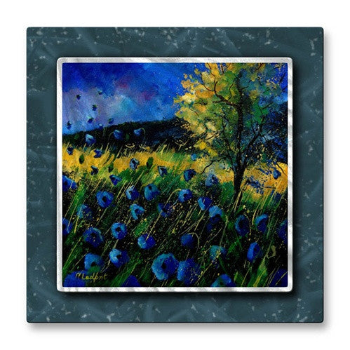 A Touch of Blue - Metal Wall Art Decor - Pol Ledent