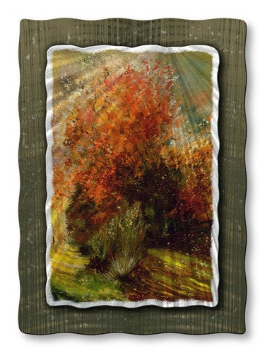 Crimson Leaves - Abstract Steel Metal Welded Wall Art Decor - Pol Ledent