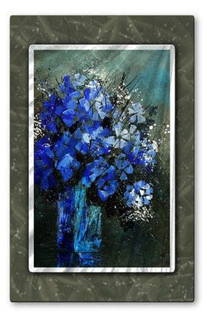 Blue Still - Metal Wall Art Decor - Pol Ledent