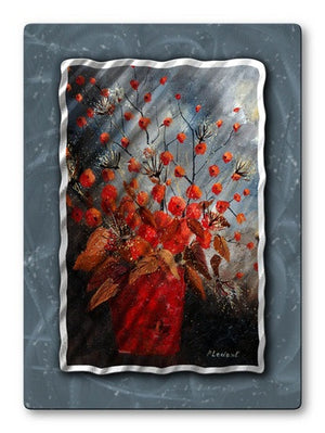 Bulbous Buds - Metal Wall Art Decor - Pol Ledent