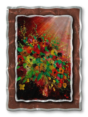 Blossoming Bouquet - Metal Wall Art Decor - Pol Ledent