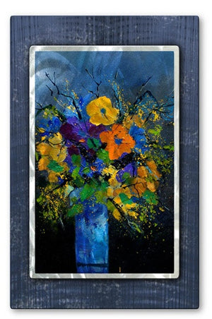 Blue Wonder - Metal Wall Art Decor - Pol Ledent