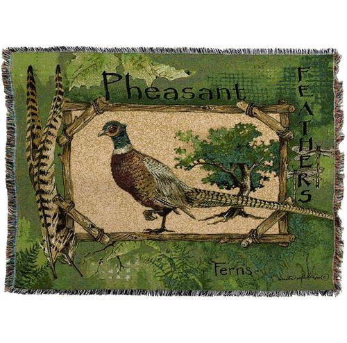 Large Pheasant Bird Throw Blanket