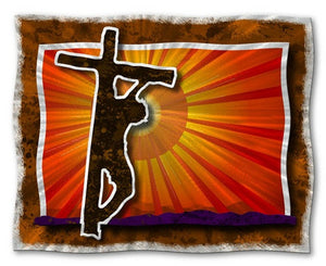 Christ on the Cross - Metal Wall Art Decor - Ash Carl Designs