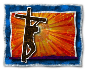 Christ on the Cross II - Metal Wall Art Decor - Ash Carl Designs