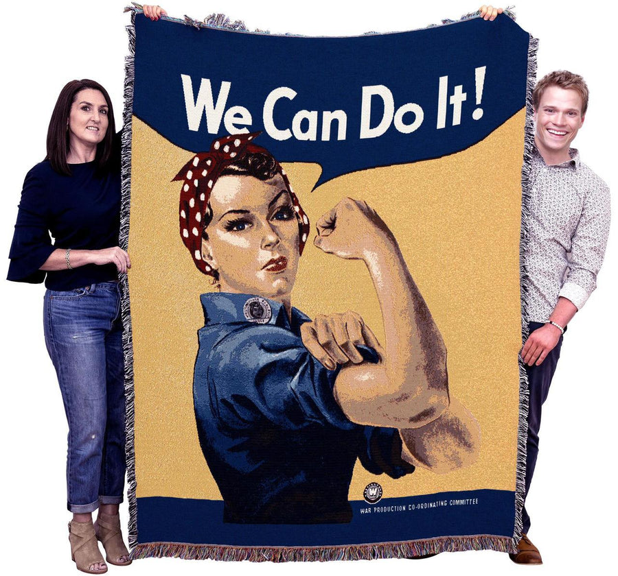 Rosie the Riveter Throw Blanket