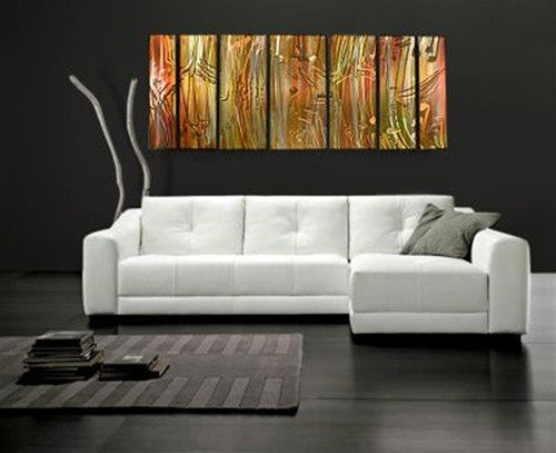 Copper Flowers Contemporary Modern Wall Art