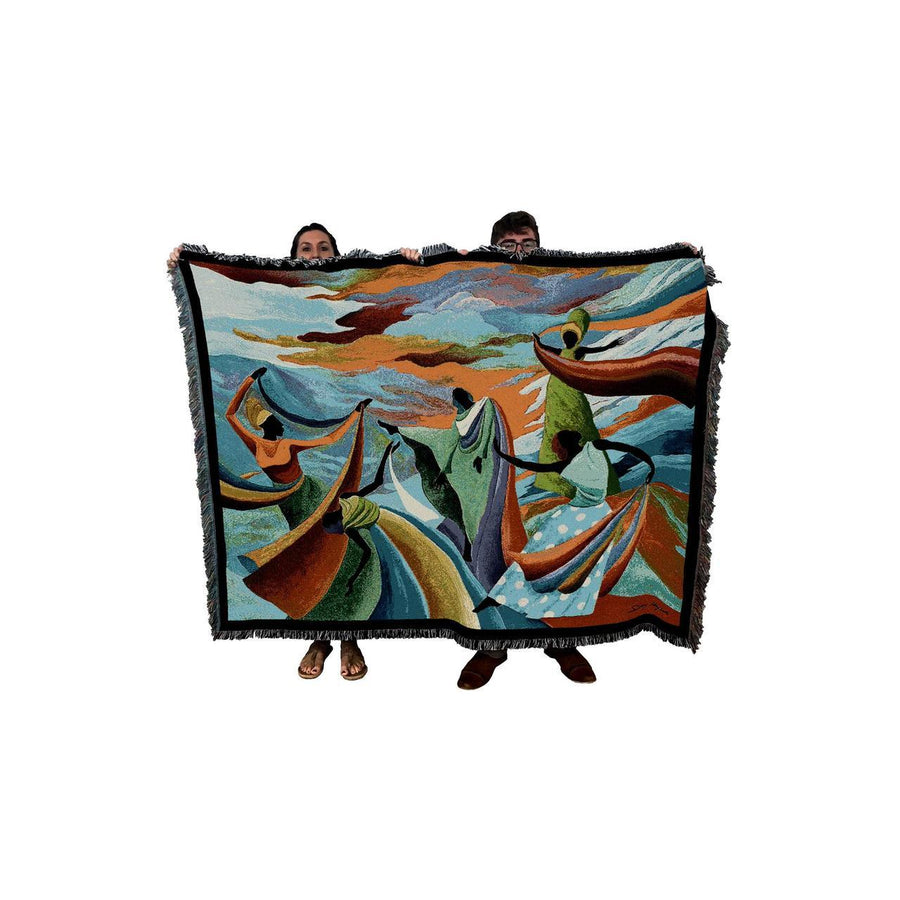 Artist Ivey Hayes Skydancer throw blanket