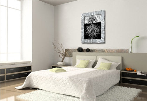 White to Black - Metal Wall Art Decor - Ash Carl Designs