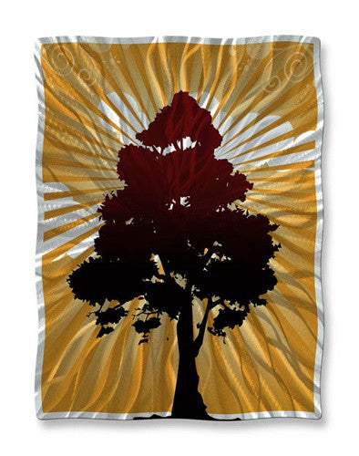 Tree Shadow - Metal Wall Art Decor - Ash Carl Designs