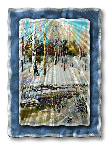 Winter Stream - Metal Wall Art Decor - Ash Carl Designs
