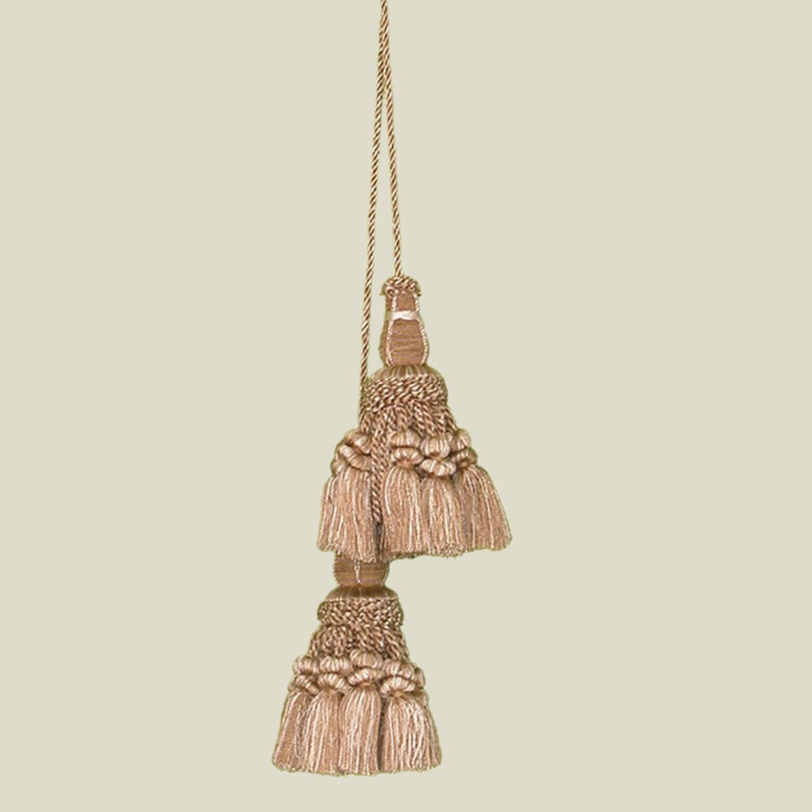 Double Key Chair Tie Gold Tapestry Tassel