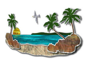 Paradise Beach - Painted Steel Metal Welded Wall Art Decor - Steve Heriot