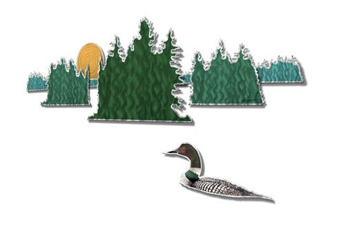 Loon Lake Scene - Metal Wall Art Decor - Steve Heriot