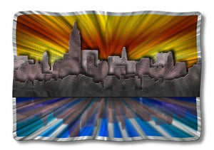 New York at Sunset - Metal Wall Art Decor - Ash Carl Designs