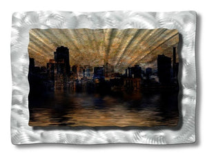 Dark City - Metal Wall Art Decor - Ash Carl Designs