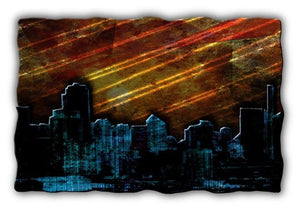 Sunrise in the City - Metal Wall Art Decor - Ash Carl Designs