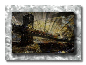 Brilliant Bridge - Metal Wall Art Decor - Ash Carl Designs